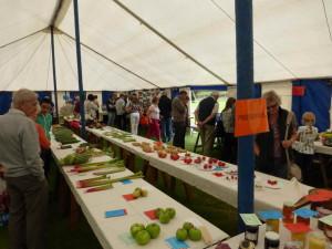 Thornton-le-Beans village show tent exhibits